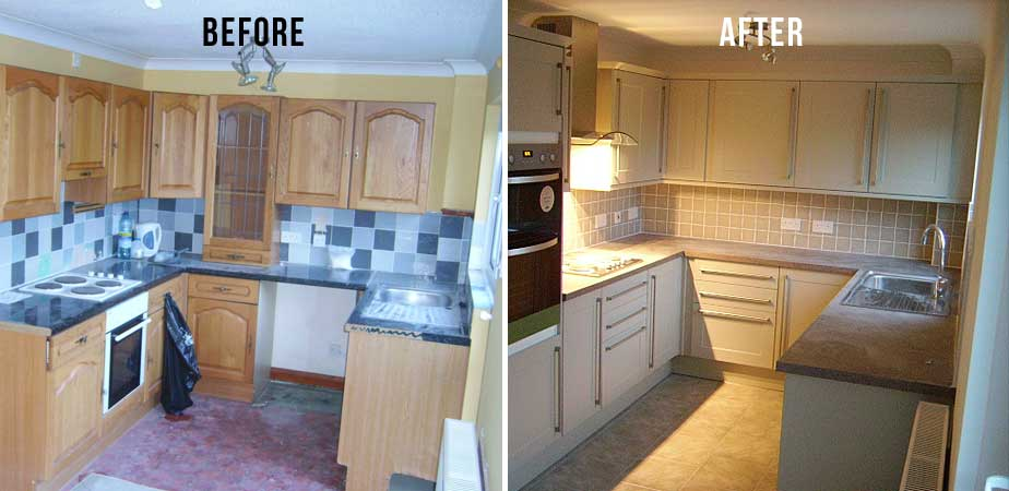 Kitchen Refurbished - Before and After
